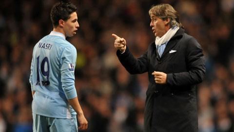 """Mancini từng tuyên bố """"chỉ muốn đấm cho Nasri một quả"""""""