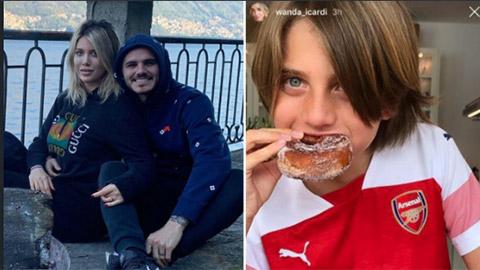 WAGs quyến rũ của PSG 'nhờ' con mang tin vui tới Arsenal