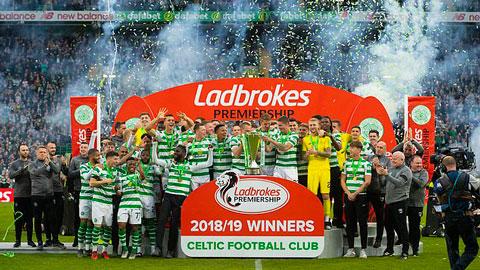 Giải Scotland có thể kết thúc sớm, Celtic được trao chức vô địch
