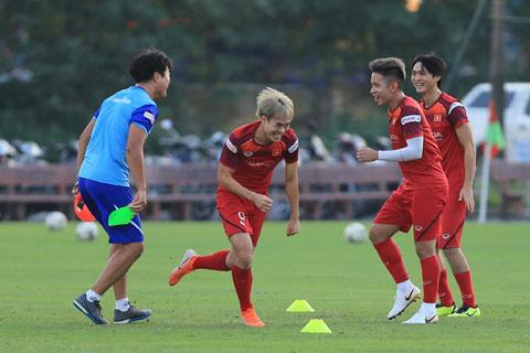 Thầy trò HLV Park Hang Seo đang được tạo mọi điều kiện tốt nhất để hoàn thành nhiệm vụ Ảnh: Đức Cường