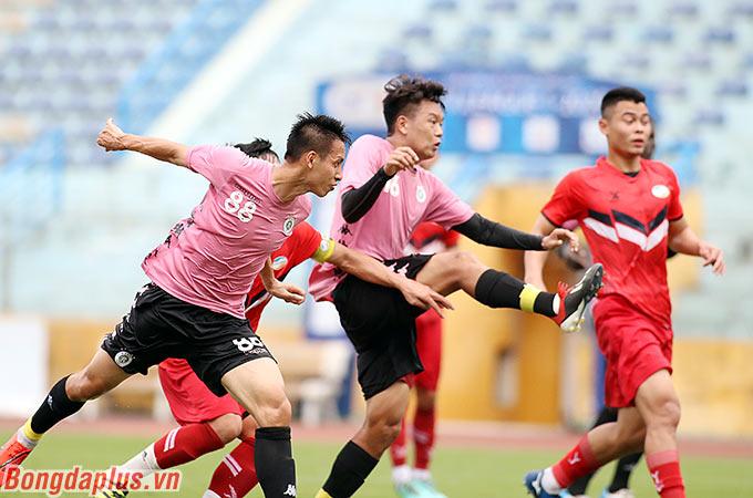 Hà Nội FC tiếp tục là đội gây sức ép lên phần sân của Viettel