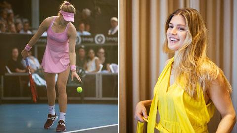 """Mỹ nhân quần vợt Bouchard: """"Tiền vẫn là thứ quan trọng nhất"""""""