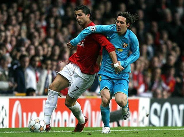 M.U của Ronaldo đã đánh bại Barca của Messi ở trận bán kết lượt về Champions League 2007/08