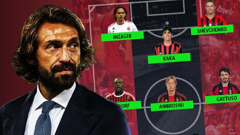 Đội hình những huyền thoại từng sát cánh với Pirlo:  2 Quả bóng Vàng, 6 nhà vô địch thế giới