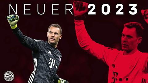 Neuer tiếp tục gắn bó với Bayern đến 2023