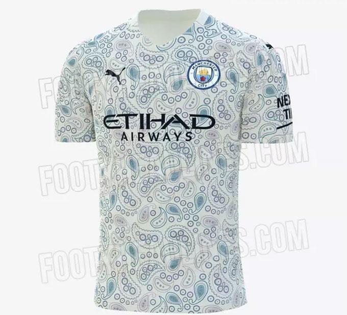 Mẫu áo đấu thứ 3 của Man City mùa tới
