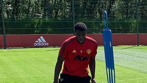 Pogba cùng dàn sao M.U trở lại tập luyện sau 2 tháng