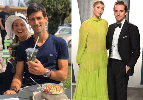 Djokovic hạnh phúc bên Jelena hơn 10 năm nay, trong khi Sharapova và Alexander Gilkes hẹn hò từ năm 2018