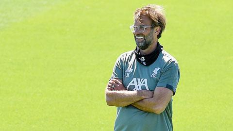 HLV Juergen Klopp trong buổi tập mới nhất cùng Liverpool