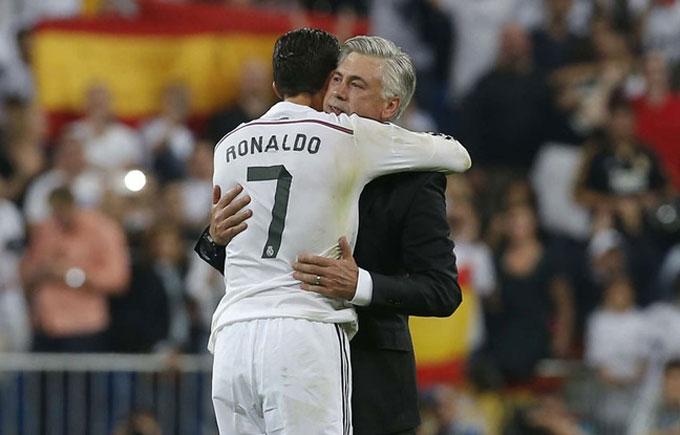 Ancelotti từng làm thầy Ronaldo ở Real