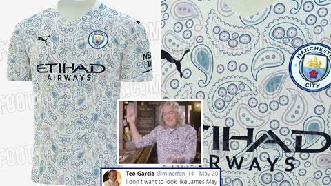 Man City rò rỉ áo đấu lòe loẹt trông như virus corona