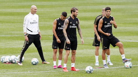 Nhiều khả năng Zidane sẽ phải luân phiên cầu thủ khi La Liga trở lại với luật thay 5 cầu thủ/trận