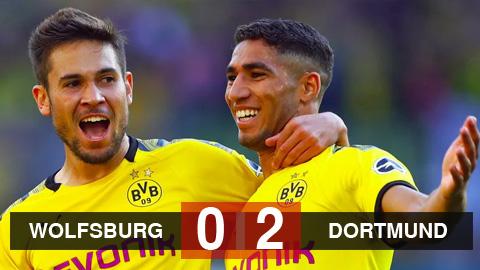 Kết quả Wolfsburg 0-2 Dortmund: Haaland im tiếng, Dortmund vẫn thắng để rút ngắn cách biệt với Bayern