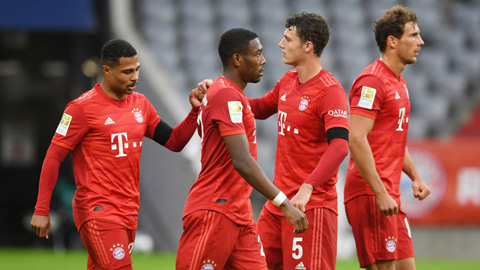 Tổng hợp vòng 27 Bundesliga: Bayern tịnh tiến đến ngôi vương, Dortmund & Leipzig kiên trì đeo bám