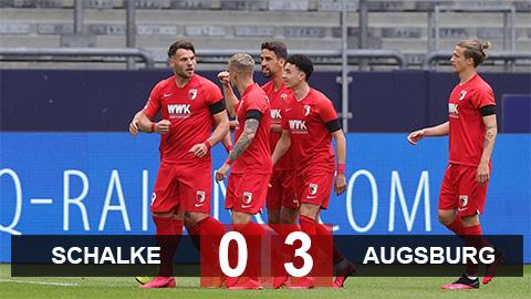 Schalke 0-3 Augsburg: Schalke trải qua 9 trận liên tiếp không thắng
