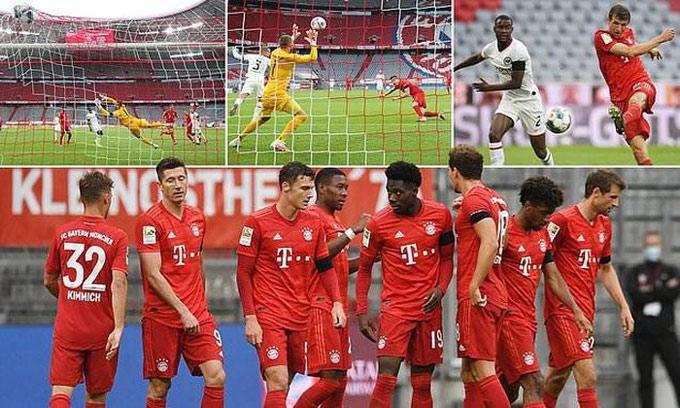 Bayern vừa hủy diệt Frankfurt với tỷ số 5-2 và tiếp tục hơn Dortmund 4 điểm