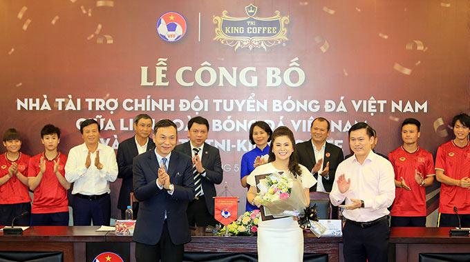 King Coffee trở thành nhà tài trợ cho ĐTQG Việt Nam trong 3 năm (2020-2023) - Ảnh: Đức Cường