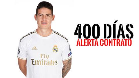 James chỉ còn 400 ngày trong hợp đồng với Real