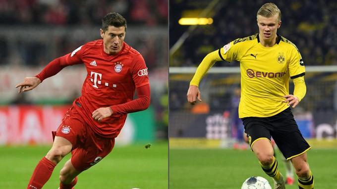 Haaland và Lewandowski là những chân sút đáng chú ý nhất Bundesliga hiện nay