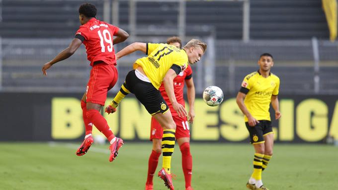 Haaland không chứng tỏ được nhiều trước Bayern và có dấu hiệu chấn thương