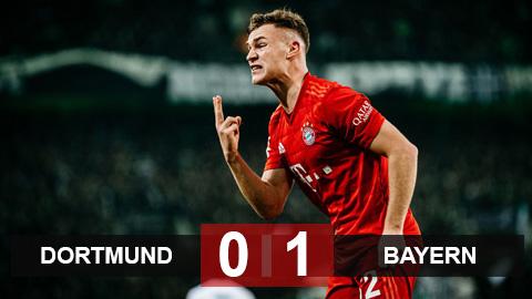 Dortmund 0-1 Bayern: Kimmich lập siêu phẩm, Bayern cắt đuôi Dortmund
