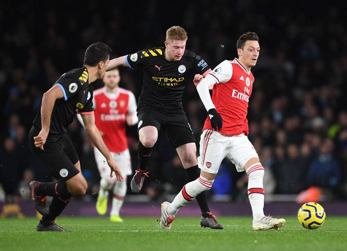 Đại chiến Man City vs Arsenal sẽ là 1 trong 2 trận đấu đầu tiên trở lại sau đại dịch