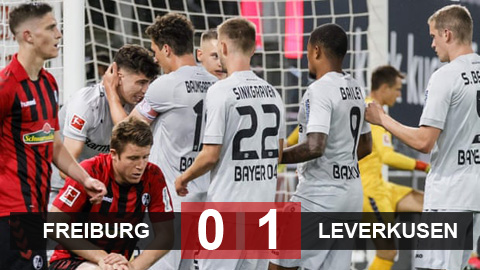 Freiburg 0-1 Leverkusen: Leverkusen trở lại Top 3