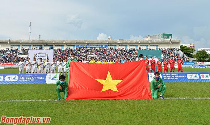 Viettel hành quân đến sân An Giang trong trận đấu thuộc vòng 1/8 Cúp Quốc gia - Bamboo Airways 2020