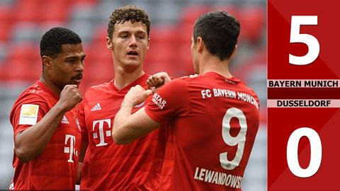 Bayern Munich 5-0 Dusseldorf (vòng 29 Bundesliga 2019/20)