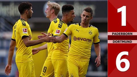 Paderborn 1-6 Dortmund (vòng 29 Bundesliga 2019/20)