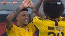 Sancho lập hattrick vào lưới Paderborn