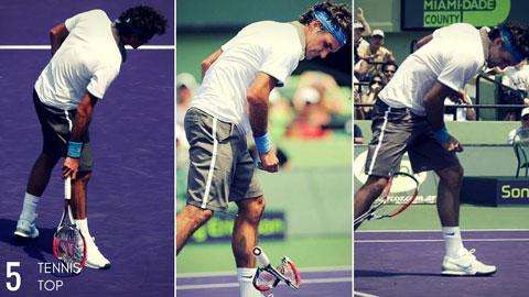 Federer mất rất nhiều thời gian để kiềm chế tức giận