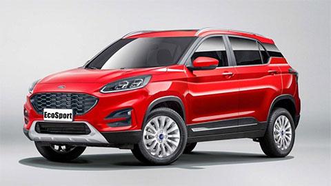 Ford EcoSport 2020 lộ ngoại hình siêu hầm hố, giá mềm, thách thức Hyundai Kona, Honda HR-V