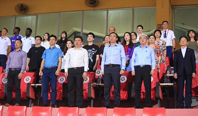 Trận đấu giữa Hà Nội và Đồng Tháp ở vòng 1/8 Cúp QG 2020 diễn ra trên sân Hàng Đẫy chiều ngày 31/5 có nhiều lãnh đạo của Tổng cục TDTT, VFF, VPF...