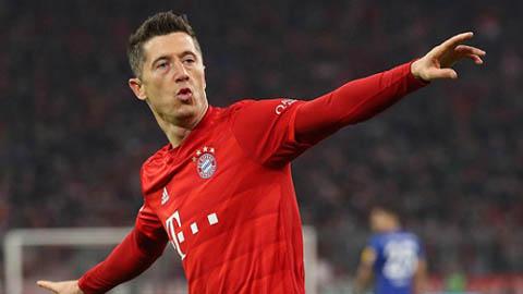 Chiếc giày Vàng châu Âu 2019/20: Sancho âm thầm vào top 10, Lewandowski băng băng về đích