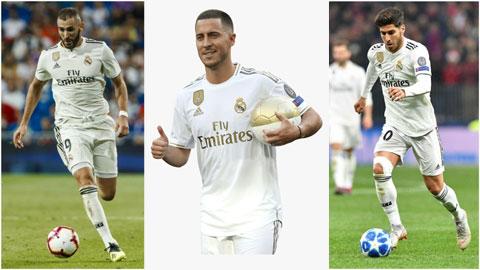 Chờ 'tam tấu' Asensio-Benzema-Hazard