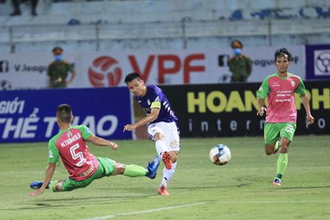 Hà Nội FC (giữa) đã có màn chạy đà tốt để chuẩn bị cho ngày trở lại V.League - Ảnh: Đức Cường