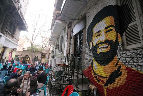 Ngôi làng nhỏ bé Nagrig giờ đây tràn ngập dấu ấn, cũng như hình ảnh của người hùng Mohamed Salah