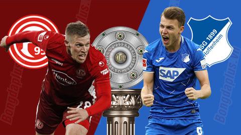 Nhận định bóng đá Fortuna Dusseldorf vs Hoffenheim, 20h30 ngày 6/6