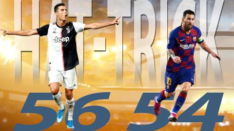 Ronaldo và Messi, ai lập nhiều hat-trick hơn?