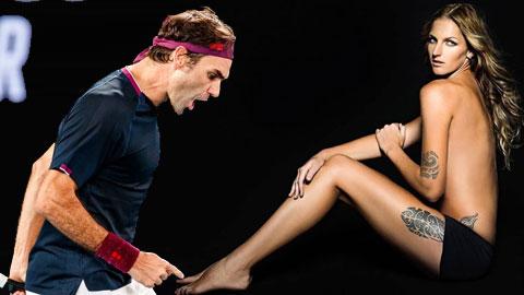 Hết chê Djokovic 'yếu đuối', người đẹp Czech lại 'đá xoáy' Federer