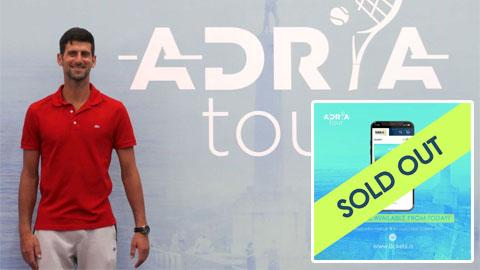 Adria Tour 'cháy vé' nhờ tên tuổi Djokovic