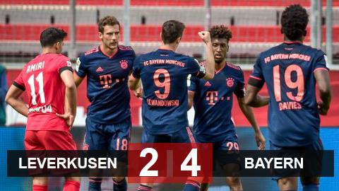 Leverkusen 2-4 Bayern: Vắng Havertz, Leverkusen bị Bayern ngược dòng ngay trên sân nhà