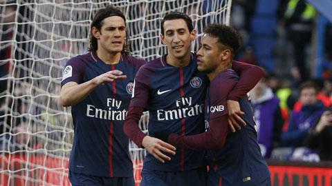 Di Maria (giữa) rất khao khát chức vô địch Champions League