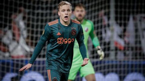 M.U bắt đầu đàm phán với Ajax về Van de Beek