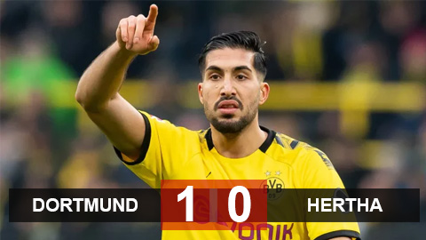 Dortmund 1-0 Hertha: Sancho vô duyên, Emre Can bất ngờ sắm vai cứu tinh