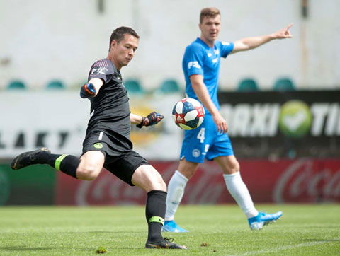 Filip Nguyễn trong màu áo Slovan Liberec