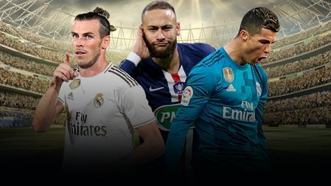 Ronaldo, Bale, Neymar lọt vào đội hình chuyển nhượng lãi nhất lịch sử bóng đá