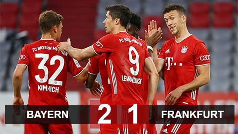 Bayern 2-1 Frankfurt: Hùm xám vào chung kết cúp Quốc gia