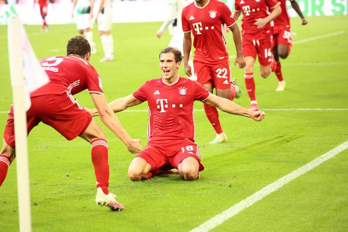 Leon Goretzka tỏa sáng với bàn ấn định tỷ số ở những phút cuối trận